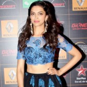 Deepika Padukone in Black Long Skirt at 9th Star Guild Awards