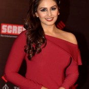 Huma Qureshi in Red Gown Pics at Life OK Screen Awards 2014