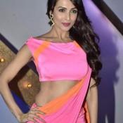 Malaika Arora Khan Hot in Pink Saree at India's Got Talent Photos
