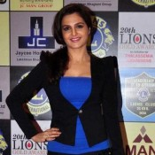 Monica Bedi in Black Jacket at 20th Lions Gold Awards 2014