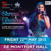 Shreya Ghoshal Live In Concert Leicester – May 2015 at De Montfort Hall