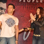 Salman Khan and Daisy Shah in Mumbai Promoting JAI HO Movie at Inorbit Mall Malad