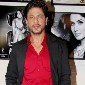 Shahrukh Khan in Red Shirt at 2014 Calendar Launch