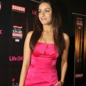 Shraddha Kapoor in Pink Sailex Outfit at Life Ok Screen Awards Nomination Party