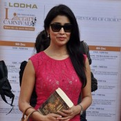Shriya Saran in Pink One Piece Dress at Neeraj Pandey Ghalib Danger Book Launch Photos