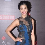 Life OK Screen Awards 2014 – Hot Shruti Hassan in Transparent Blue and Black Combination Gown