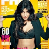 Shruti Hassan in Bikini Pics – Hot Photo on FHM Magazine Cover Page in February 2014 Edition