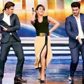 Priyanka Chopra Hot at India's Got Telent  with Ranveer Singh and Arjun Kapoor for Gunday Movie Promotion