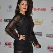 Jacqueline Fernandez in Black One Piece at Idea FilmFare Pre Awards Party 2014