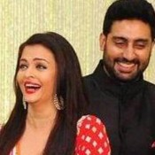 Kunal Kapoor and Naina Bachchan's Wedding Reception Photos – Aishwarya Rai Bachchan in Red Floor Length Anarkali Dress