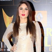 Kareena Kapoor in Pearl and Gold Combination Gown at Star Guide Awards 2014