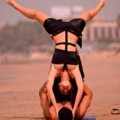 Bruna Abdullah Rehearsing Acro Yoga for Nach Baliye 6 Dance Performance 2013