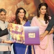 Huma Qureshi in Pink Anarkali Suits during Promotion of Dedh Ishqiya Hindi Movie 2014