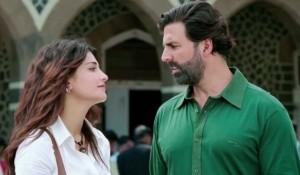Akshay Kumar in Green Shirt in Gabbar Is Back Hindi Movie 2015