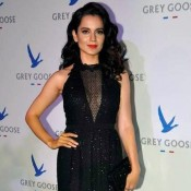 Kangana Ranaut Hot Cleavage Pics in Black Dress – Hot Photos in See through Dress