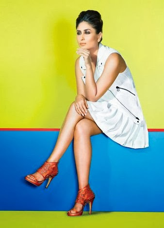 kareena kapoor in short white skirt for metro shoes add