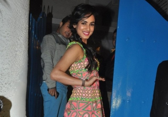 Sonal Chauhan Printed One Piece at Dabboo Ratnani Calendar Launch 2014