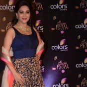 Madhuri Dixit Open Chest Hot Photos in New Blouse Patterns at COLORS Golden Petal Awards 2013