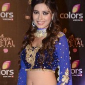 Pratyusha Banerjee Hot Navel Show Pics in Blue Dress at COLORS Golden Petal Awards 2013