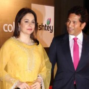 Sachin and Anjali Tendulkar at Inauguration of Celebrity Cricket League 2014 Season 4