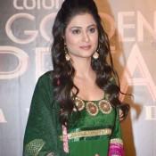 Shefali Sharma in Bottle Green Dark Colour Anarkali Dress – Traditional Look in Churidar Suits