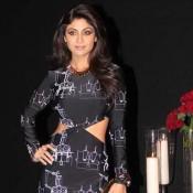 Shilpa Shetty in Black Dress at Deepika Padukones Success Party