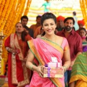 Shruti Haasan in Gabbar is Back Photos 2015 – New Look in Pink Marathi Saree