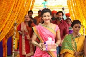 Shruti Haasan in Gabbar is Back Photos 2015 – New Look in Pink Marathi Saree