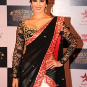 Sunny Leone Hot In Saree at Big Star Screen Awards 2013 Hot Photos
