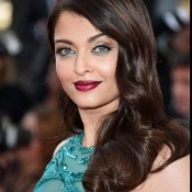 Aishwarya Rai in Green Sleeveless Gown at 68th Cannes Film Festival 2015
