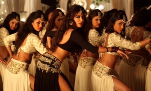 Chitrangada Singh in Black Lehenga Backless Blouse Photos – Bare Back Show New Images from Gabbar Is Back Item Song