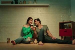Kareena Kapoor in Green One Shoulder off Top in Gabbar is Back 2015 Film