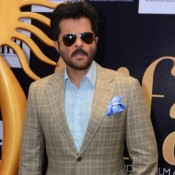 Anil Kapoor in Sky Blue Shirt with Chax Blazer and Goggles Cool Look at IIFA 2015 Press Meet
