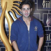 Armaan Jain in Blue Loose Jacket with Sky Blue Jeans New look at IIFA 2015 Press Meet