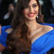 Sonam Kapoor in Blue Floor Length Gown at 68th Annual Cannes Film Festival 2015