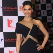 Deepika Padukone in Black Transparent Gown for PIKU Movie Success Bash Party 2015