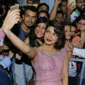 Priyanka Chopra in Pink Sleeveless Gown at IIFA 2015 and Dil Dhadakne Do Screening Bash