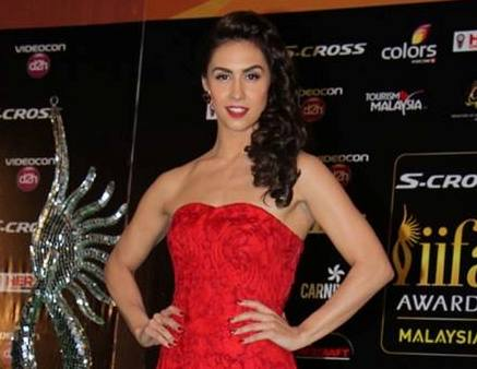 Lauren Gottlieb in Red Strapless Floor Length Gown Photos at IIFA 2015