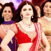 Prachi Desai in Red Saree Blouse in CHURA KE LEJA Song of Hindi Movie POLICEGIRI 2013