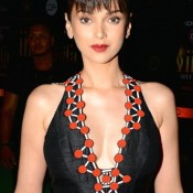 Aditi Rao Hydari in Black V-Neckline Long Gown Photos at IIFA 2015