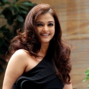 Aishwarya Rai in Black One Shoulder Gown Photos