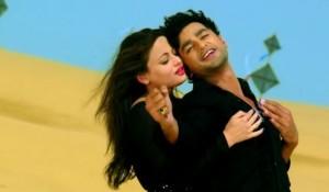 Sneha Ullal in Black Anarkali Curidaar Dress in Bezubaan Ishq Hindi Movie 2015
