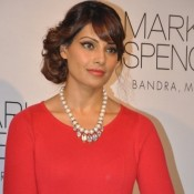 Bipasha Basu in Red Dress Short Dress Photos