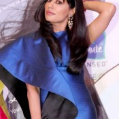 Chitrangada Singh Hot in Blue One Piece at Let's Talk Hair Book Launch Cool Pics