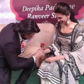 Deepika Padukone in Jaipur Rajasthan in Black Anarkali Dress Long Kurta for RAM LEELA