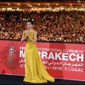 Deepika Padukone in Yellow Evening Gown at Marrakech International Film Festival 2013