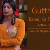 Gutthi Babaji Ka Thullu Action in Comedy Nights with Kapil