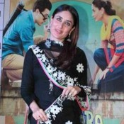 Kareena Kapoor in Black Salwar Kameez for Promoting Gori Tere Pyaar Mein Movie