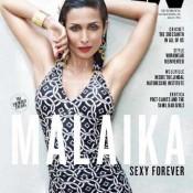 Malaika Arora In Black Swimsuit Bikini On The Cover Of MW Men Magazine