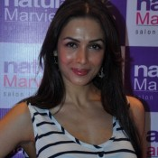 Malaika Arora Khan in Black Plazoo Pants at Naturals Marvie Lounge Launching Event